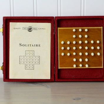 Vintage Travel Solitaire Game, England