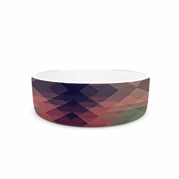 "Nika Martinez ""Hipsterland"" Maroon Green Pet Bowl"