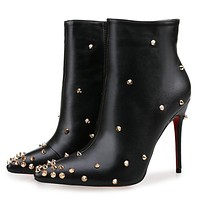 Christian Louboutin Women Fashion Casual Heels Shoes Boots-5