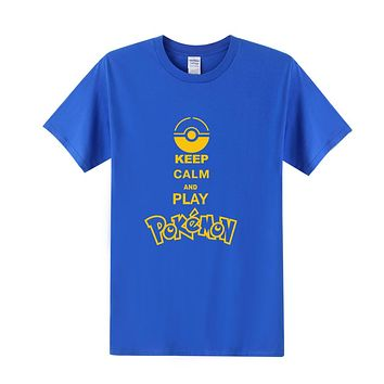 Keep Calm And Play Pokemon T Shirt Men