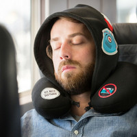 """Silent Music"" Travel Hoodie and Neck Pillow"