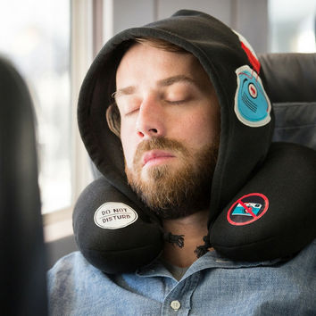 """""""Silent Music"""" Travel Hoodie and Neck Pillow"""
