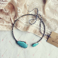 Snow Chime Necklace in Silver