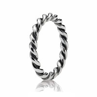 PANDORA Silver Twist Ring - Size 4.5
