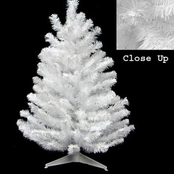 """18"""" x 11"""" Snow White Artificial Table Top Christmas Tree Decoration - Unlit"""