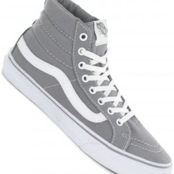 Vans Sk8-Hi Slim Shoe girls (frost grey true white) buy at skatedeluxe
