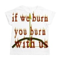 Fire Burn With Us Women's All Over Print T-Shirt> If We Burn You Burn With Us> FanStastic Gear Hunger Games Auntie Shoe