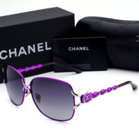 Chanel Fashion Sunglasses Vintage Fashion Metal Frame Mirror Sun Glasses Unique Flat Sunglasses G-YJ-LHSTCYJC