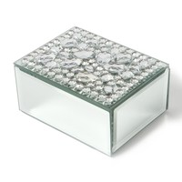 Mirrored Crystal Gemstone Jewelry Box  | Icing