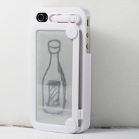 Retro Style Magic Drawing broad iphone case Cover For iPhone 4/ 4S White
