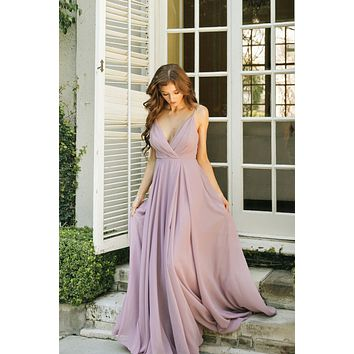 Cassidy Lavender Flowy Maxi Dress