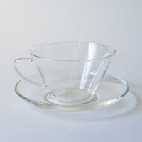 Hario Glass Cup & Saucer