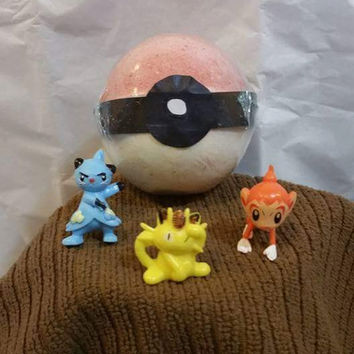 Pokemon pokeball bath bombs