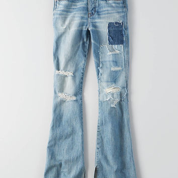 Vintage Hi-Rise Flare, Patched And