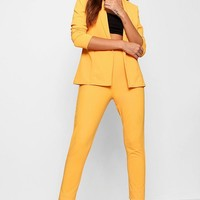 Ella Crepe Fitted Suit | Boohoo