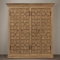 17th C. Castelló Wide Wood Cabinet