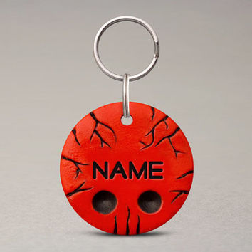 Cracked Skull Pet ID Tag - For Cats Dogs, Custom Name Tag, Pet Lovers Gifts