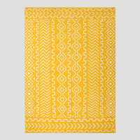 Yellow Nira Flat-Woven Wool Rug - World Market