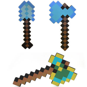 Minecraft foam weapons