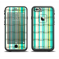 The Vivid Green and Yellow Woven Pattern Apple iPhone 6/6s LifeProof Fre Case Skin Set