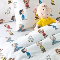 Kids Sheet Set | Peanuts Gang Percale Sheets