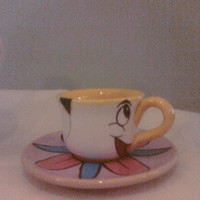"Ceramic Tea Cup and Saucer similar to ""Chip"" from Disney's ""Beauty and the Beast"""