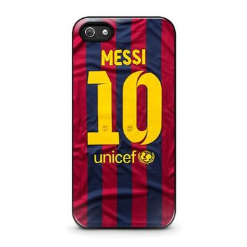 lionel messi 10 jersey barcelona iphone 5 5s se case cover  number 1