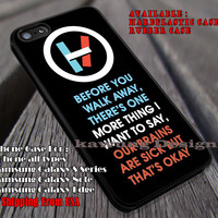 Pilots quote lyric, 21 pilots, twenty one pilots, case/cover for iPhone 4/4s/5/5c/6/6+/6s/6s+ Samsung Galaxy S4/S5/S6/Edge/Edge+ NOTE 3/4/5 #music #21p  ii