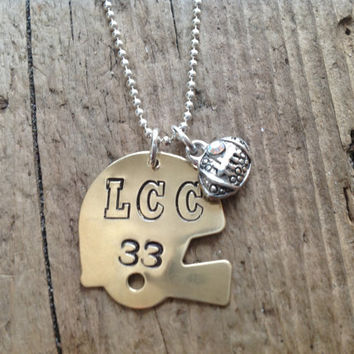 Football Mom/Girlfriend Helmet Sports Necklace