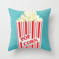 Pop Corn Throw Pillow by Libertad Leal Photography