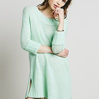 Free People Womens Cashmere Rolled Sleeve Pullover