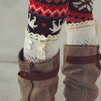 Pre-Order - Avery Knit Boot Socks with  Lace Details Must have for Fall and Winter Wear Christmas Gift Perfect For Her Under 30