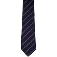 Geoffrey Beene Designer Striped Narrow Silk Tie - Blue