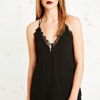 Silence + Noise Neglige Cami Top in Black - Urban Outfitters