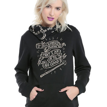 Harry Potter Solemnly Swear Cowl Neck Girls Hoodie