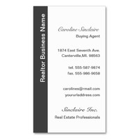 Cool Grey Realtor Business Cards