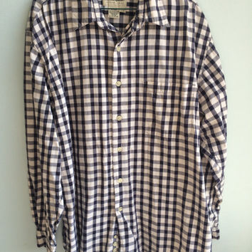 Classic checkered Eddie Bauer Button down shirt
