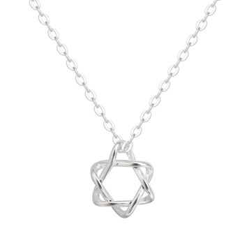 925 Silver David Star Necklaces & Pendants For Women Tiny Geometrical Jewelry