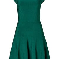 STYLEBOP.com | Green Rayon Ribbed Knit Dress by ISSA | the latest trends from the capitals of the world