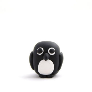 penguin polymer clay animal penguin miniature polymer clay animal adelie penguin totem