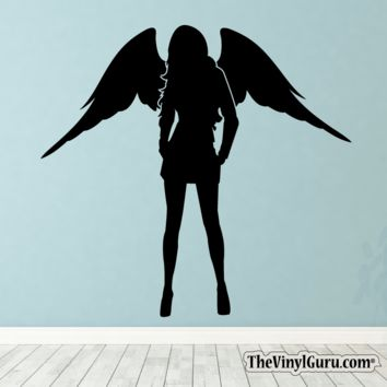 Sexy Angel Pin-Up Girl Wall Decal I