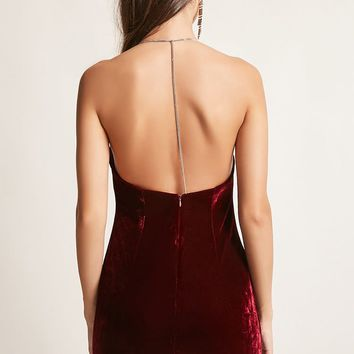 Chainlink Velvet Bodycon Dress