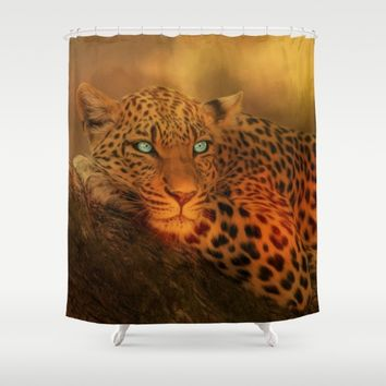 Waiting For The Night Shower Curtain by Theresa Campbell D'August Art