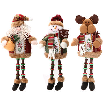 Hot Promotion ! ! Hot Sale Santa Claus Snow Man Reindeer Doll Christmas Decoration Xmas Tree Hanging Ornaments Pendant Best Gift