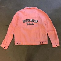 Supreme Fashion Distressed Denim Cardigan Jacket Coat