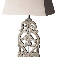 Traditional Table Lamp Gray