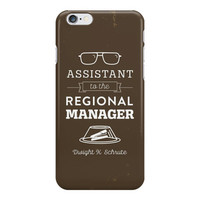 Dwight Schrute iPhone Case or Galaxy Phone Case - The Office Dunder Mifflin Assistant to the Regional Manager - Custom background color