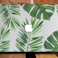 MacBook Air Hard Case MacBook Air 13 Inch Cover MacBook Retina 15 Case Mac 13 Case Gift MacBook Laptop Case Mac 11 Cover Tropical Leaves
