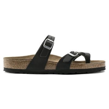 Birkenstock Mayari Oiled Leather Black 1009922/1009923 Sandals - Ready Stock