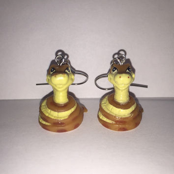 Squinkies Earrings - Kaa the snake - made from re-purposed toys